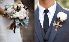 cotton wedding flowers