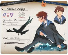 Pet Raven, Harry Potter Oc, Interesting Drawings, Spiderwick, Drawing Prompt, Unicorn Hair, Dope Art, Kawaii, Dnd Characters