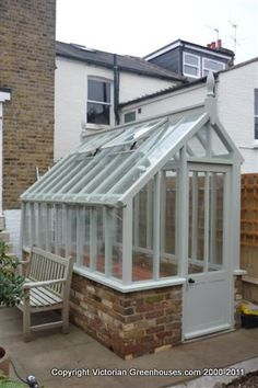 Small greenhouse....  By VictorianGreenhouses.com