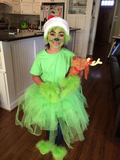 grinch costume tulle and feather boas - Baby Grinch Halloween Costume