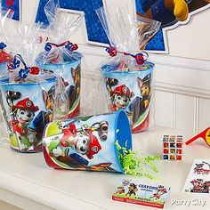 Send the rescue crew off with official Paw Patrol favor cups and favors! Send the rescue crew off with official. Fourth Birthday, 4th Birthday Parties, Birthday Fun, Birthday Ideas, Paw Patrol Party Supplies, Paw Patrol Party Favors, Fete Laurent, Fete Emma, Paw Patrol Birthday
