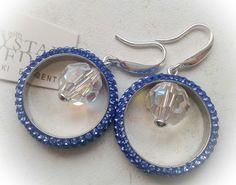 Swarovski sapphire earrings