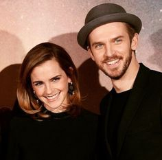 "Emma Watson and Dan Stevens | ""Me and ma belle"" via Dan's Instagram."