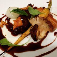 Coq Au Vin  Zinfandel Braised #Chicken Crispy Skin #Pork belly  Wild Mushrooms Onion Puree  #gastronomia #gastroart #theartofplating #tastingmenu #chefsroll #foodphotography #foodstagram #foodspotting #food #chefsofinstagram #arizona by southwestchefservices