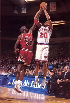 Michael Jordan and Allen Houston (New York Knicks)