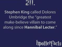 Stephen King on Dolores Umbridge! Mind Blown!