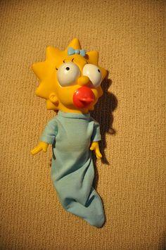 Mattel Sweet Suckin' Maggie Simpson doll.