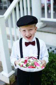 Ring bearer Idea... @Meredith Dlatt Dlatt Dlatt Bair Visit http://www.brides-book.com for more great wedding resources