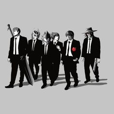 Shop Anime Bad Dogs Guts Diamond Vegeta Sasuke Kira and Alucard Resevoir Dogs Men's T-Shirt by Samiel Art. Available on a range of apparel with international shipping.