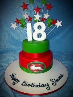 18th birthday cakes Black And White 18th Birthday Cake