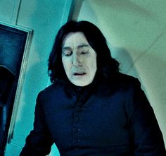 "Emma Thomson & Alan Rickman in ""Love Actually""/ Carrie-Anne Moss & Alan Rickman in ""Snow Cake"", Alan Rickman & Ian Hart in ""Harry Potter and the Philosopher's Stone""/ Alan Rickman & Johnny Depp in. Professor Severus Snape, Harry Potter Severus Snape, Severus Rogue, Alan Rickman Severus Snape, Harry James Potter, Harry Potter Cast, Harry Potter Characters, Harry Potter Universal, Harry Potter Fandom"