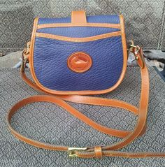 Very Rare Dooney & Bourke Vintage Marble Tack Bag in Air Force Blue.  I overpaid for this one, but this concludes my annual ebay post holiday splurge.
