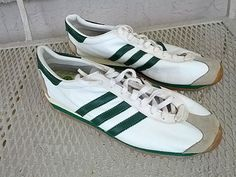 Vintage ADIDAS Country Made In FRANCE All Leather by Cashmereplus, $299.00
