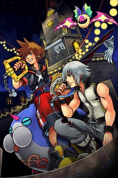 16fd9c97306 Poster of  Sora and  Riku from  KingdomHearts 3D  Dream Drop Distance.  nerdemia.com