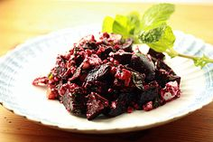 Take your taste buds on a wild ride with an ambrosial combination of roasted beets, feta, mint, and pomegranate molasses in this dish by Winnie Abramson of Healthy Green Kitchen.