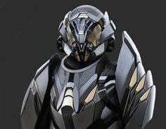 Sci-Fi, Cyberpunk, Futuristic, Armor, Helmet, Android, Humanoid, Cyborg