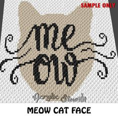 Crochet Meow Cat Face Typography Pet Blanket Quote Graphgan Pattern, Meow Cat Face Typography Pet Crochet Colorwork Pattern, PDF Digital Files Acrylic Stew for Crochet and Cross Stitch Graph Patterns. This is a color graph pattern to follow not a written pattern. Meow cat face typography pet blanket quote graph by Acrylic Stew is a graph that can be used to crochet a blanket using C2C (Corner to Corner), TSS (Tunisian Simple Stitch) and other techniques. Alternatively, you can use this…