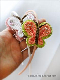 Butterfly headband #crochet