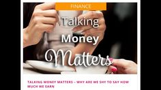 Talking Money! Why is Talking Money Taboo?