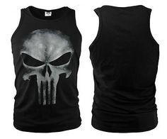 THE PUNISHER Thomas Jane Tshirt Women Men Sleeveless Black T-SHIRT