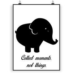 Poster DIN A4 Elefant aus Papier 160 Gramm  weiß - Das Original von Mr. & Mrs. Panda.  Jedes wunderschöne Poster aus dem Hause Mr. & Mrs. Panda ist mit Liebe handgezeichnet und entworfen. Wir liefern es sicher und schnell im Format DIN A4 zu dir nach Hause.    Über unser Motiv Elefant  Dickhäuter kommen neben dem Zoo in freier Wildbahn in der Savanne vor und sind die größten lebenden Landtiere. In Afrika und Asien ist der Elefant heimisch. Die Rüsseltiere sind friedlich und sehr schlau…