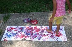 feet painting - shared with the Kids Art Explorers project http://nurturestore.co.uk/category/creative-art/kids-art-explorers
