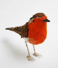 """Robin"" by textile artist Abigail Brown"