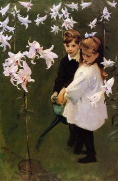 Garden Study of the Vickers Children - John Singer Sargent
