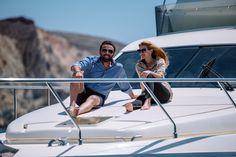 Ferretti luxury yacht trips around Caldera