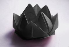 Origami instructions for the black lotus from the BBC Sherlock episode The Blind Banker.