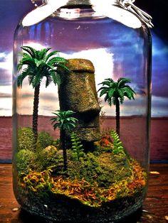 Easter Island Terrarium