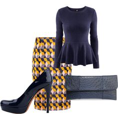 """Navy & Mustard"" by sdsimpson on Polyvore"