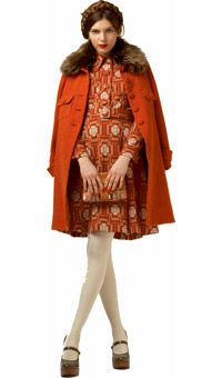 Orla Kiely - I am going out right now to look for an old wool coat with a fur collar, preferably orange.