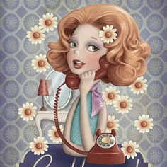 TELEPHONE~ art by Nina de San - FRANCIA