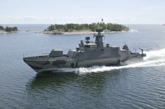 Hamina-class missile boat FNS Tornio, representing the third generation of Finnish missile United States Navy, Navy Ships, Army & Navy, Military Weapons, Comic, Modern Warfare, Aircraft Carrier, Armored Vehicles, Royal Navy