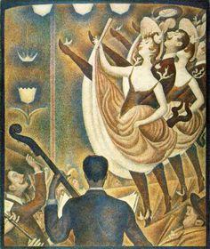 Le Chahut - Seurat - Pointillism at its best