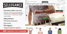 Download Free              Sellegance - Responsive and Clean OpenCart Theme            #               clean #e-commerce #ecommerce #elegant #mobile #modern #opencart #responsive #sellegance #shop #shopping cart #simple #store