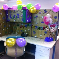 Decorating Office Cubicle birthday decorations for a am office cubicle | office desks