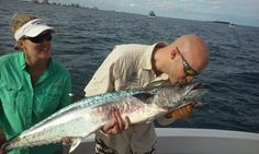 Nice kingfish caught on our sportfish charter in Fort Lauderdale.  Let's go fishing! www.FishHeadquarters.com