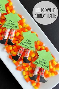 Need Halloween candy ideas? Try making these witch legs for a creative Halloween treat!