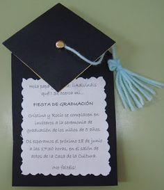 Risultati immagini per invitacion graduacion infantil goma eva Graduation Open Houses, Graduation Theme, Kindergarten Graduation, Graduation Celebration, Graduation Decorations, High School Graduation, Graduation Cards, Graduation Invitations, Diy Invitations