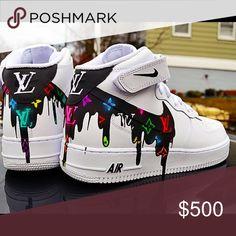 The 10 Best Nike Air Force 1 Custom Kicks - WassupKicks - Schuhe - shoes Cute Nike Shoes, Nike Air Shoes, Nike Air Force, Jordan Shoes Girls, Girls Shoes, Moda Sneakers, Shoes Sneakers, New Jordans Shoes, Sneakers Adidas