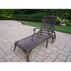 Mississippi Cast Aluminum Chaise Lounge, Antique Bronze