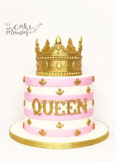 Queen B themed birthday cake! call or email to book your celebration cake today! Queen B Ge Elegant Birthday Cakes, Birthday Cake Crown, Simple Birthday Cake Designs, Queens Birthday Cake, Birthday Cake For Women Elegant, Birthday Cakes For Women, Queen Birthday, Themed Birthday Cakes, Birthday Cake Girls