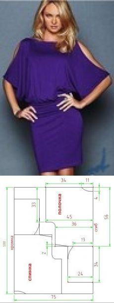 Простая модель платья Летучая мышь всего за пару часов // Taika