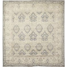 Add a transitional style to your home with this Silverwashed Peshawar Sarvinoz Grey Rug. An oriental pattern coordinates with almost any home decor while a soft and durable wool construction makes this rug a comfortable complement to any room.
