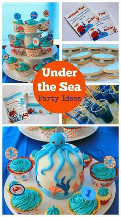 Ocean Under the Sea Birthday Party Ideas for boys. Party printable decorations & invitations by Love That Party. www.lovethatparty.com.au