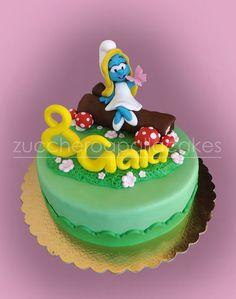 Smurfette  Cake by ZUCCHEROAPALLACAKES