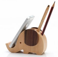 Wood mobile phone stand pen container iphone stand - Samsung Phone Holder - Ideas of Samsung Phone Holder - Wood mobile phone stand pen container iphone stand Wood Phone Stand, Iphone Stand, Wood Projects, Woodworking Projects, Woodworking Classes, Woodworking Videos, Woodworking Furniture, Mobile Stand, Wooden Elephant