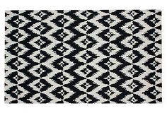 Found my rug for master bedroom!! Yay!! Ikat Rug, Black on OneKingsLane.com